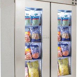RVS horeca koelkast met glasdeuren | 2 deurs | 1400 liter