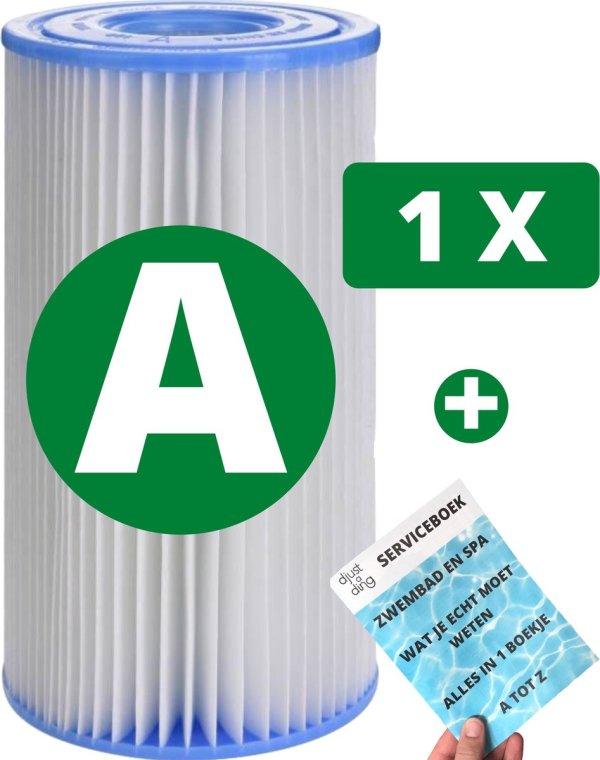 1 x Intex Zwembadfilter Type A voor Zwembad voor Onderhoud - Filtercartridge - Onderhoudsfilter - Filter Type A + Djust A Ding Serviceboek