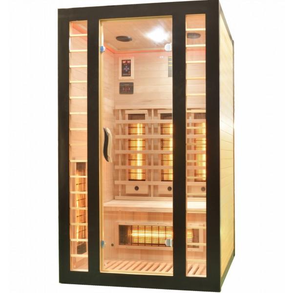 Badstuber Fresh infrarood sauna 120x105cm 2 persoons zwart