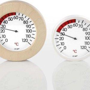 Eligo Thermometer voor de Infrarood sauna - in houten omlijsting (Ø 15,5cm)