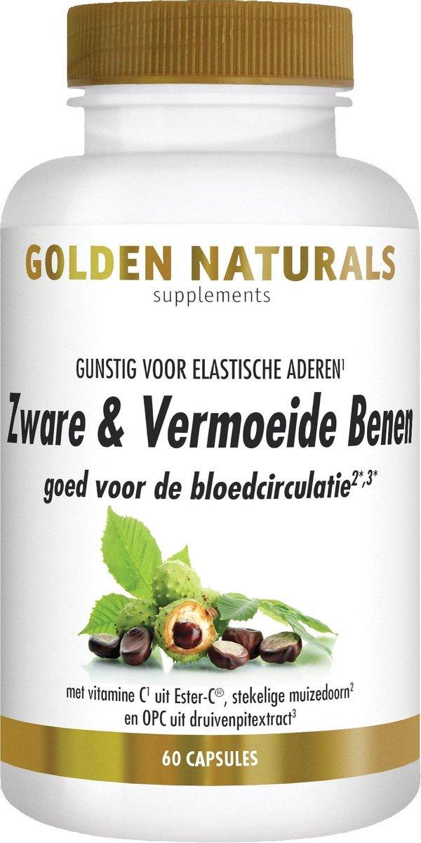 Golden Naturals Zware & Vermoeide Benen (60 vegetarische capsules)