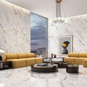Ibiza Gold Gepolijst Glans Marmerlook 60x120 Wand en Vloer Tegels Prijs ,per m2