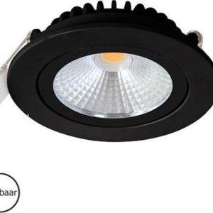 Inbouwspots rond | zwart | 2700K | IP54 | badkamer verlichting