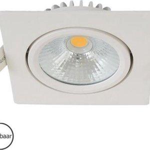 Inbouwspots vierkant | wit | 2700K | IP54 | badkamer verlichting
