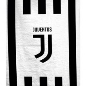 Juventus badlaken logo 70 x 140 cm wit/zwart