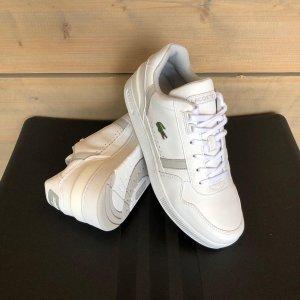 Lacoste T-Clip Heren Sneakers - White/Light Grey - Maat 40.5