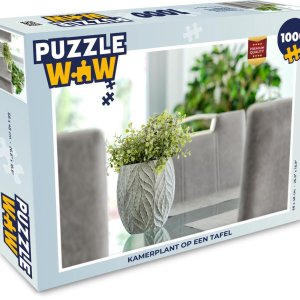 Puzzel 1000 stukjes volwassenen Kamerplant 1000 stukjes - Kamerplant op een tafel - PuzzleWow heeft +100000 puzzels