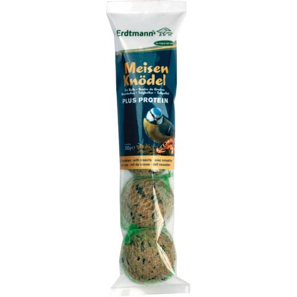 Vogelvoer mezenbollen Plus proteine zak met 4 stuks