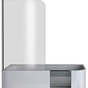 Xenz GO! Inloop douchebad rechts wit inclusief douchescherm