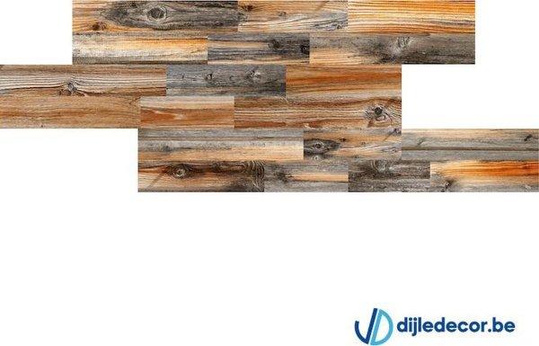 2,5m2 Houtlook wandpaneel | 100cm x 16cm | DDWD02