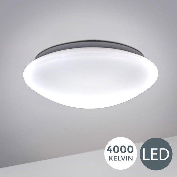 B.K.Licht - Plafondlamp - badkamer verlichting - IP44 - wit - Ø29cm