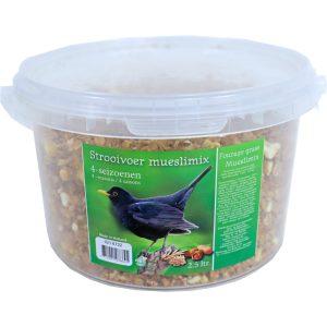 Vogelvoer strooivoer mueslimix 4-seizoenen 2,5 liter