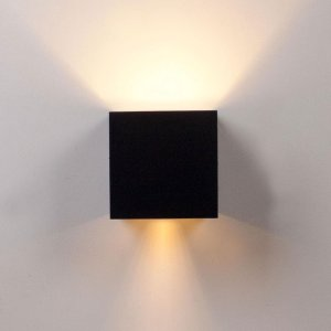 Rilimo® - Wandlamp - Wandlamp Met Dag En Nacht Sensor - Led Lamp - Buitenlamp - Kubus wandlamp - Up Down Verlichting - Buitenverlichting - Waterdichte Ledverlichting - Muurlamp - Badkamer Verlichting - Wandspot