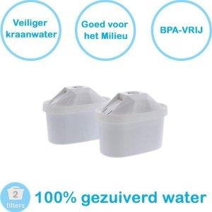 PREMIUM voor BRITA MAXTRA Waterfilter 2 Stuks Water filter patronen voor 2 Maanden Gezuiverd Water -Waterontharding -Waterontkalker -Waterzuivering Brita filterpatronen BPA-Vrij