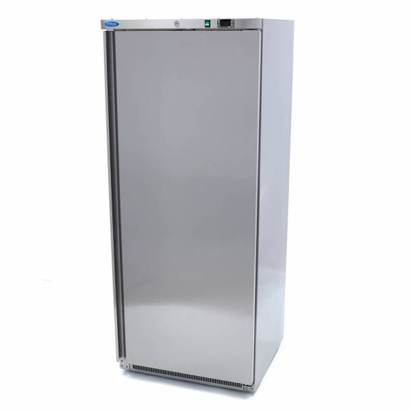 Horeca Koelkast 600 Liter - RVS - Digitale Temp. Controle - 4 Verstelbare Roosters - Verstelbare Poten - Met Slot - Koeling - Maxima