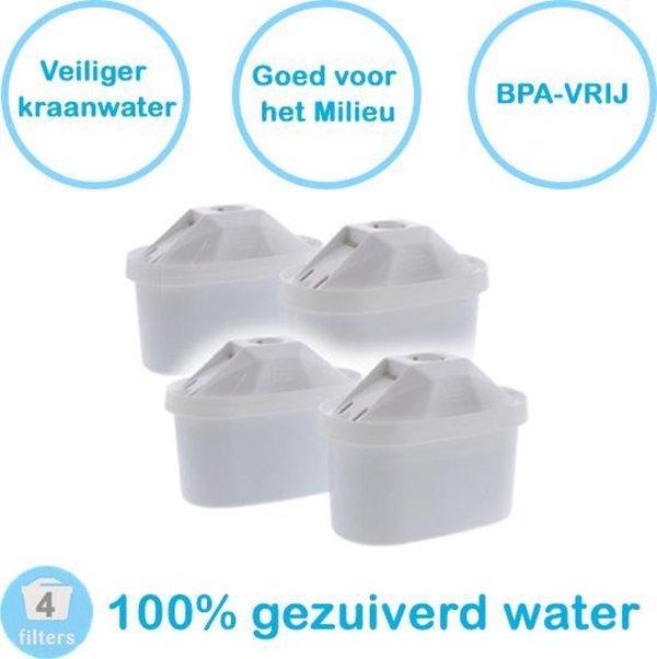 PREMIUM voor BRITA MAXTRA Waterfilter 4 Stuks Water filter patronen voor 4 Maanden Gezuiverd Water -Waterontharding -Waterontkalker -Waterzuivering Brita filterpatronen BPA-Vrij