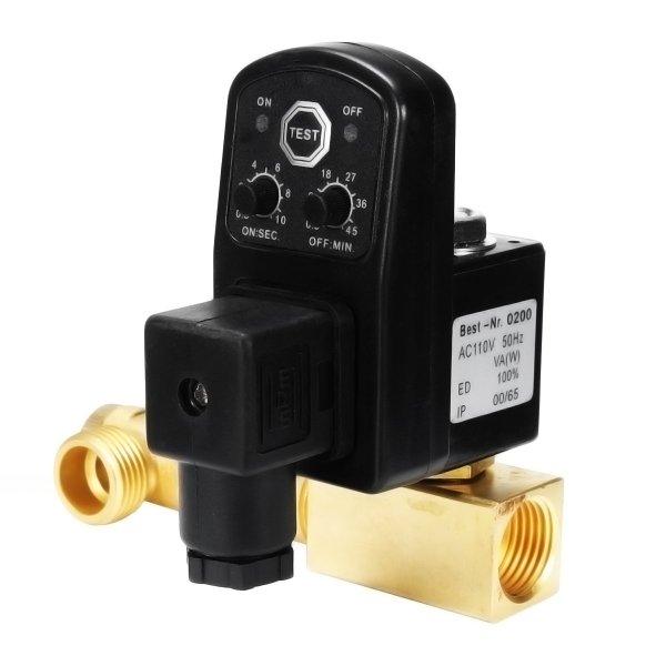 ac 110v 1/2 inch 2-weg afvoerklep elektronische tijdgestuurde luchtcompressor condensaat automatische drukschakelaar