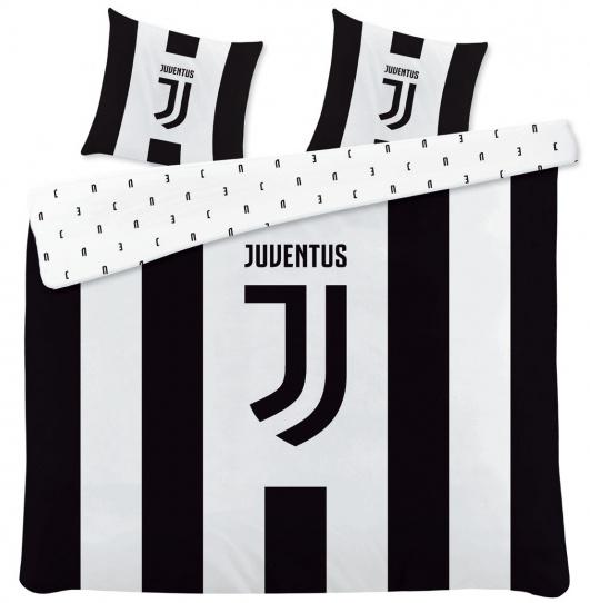 Juventus dekbedovertrek 240 x 220 cm katoen zwart/wit