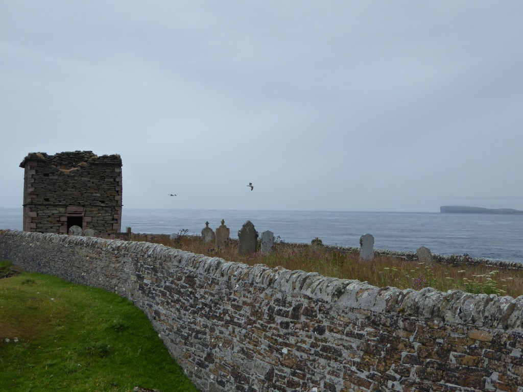 View over the the graveyard of Stroma