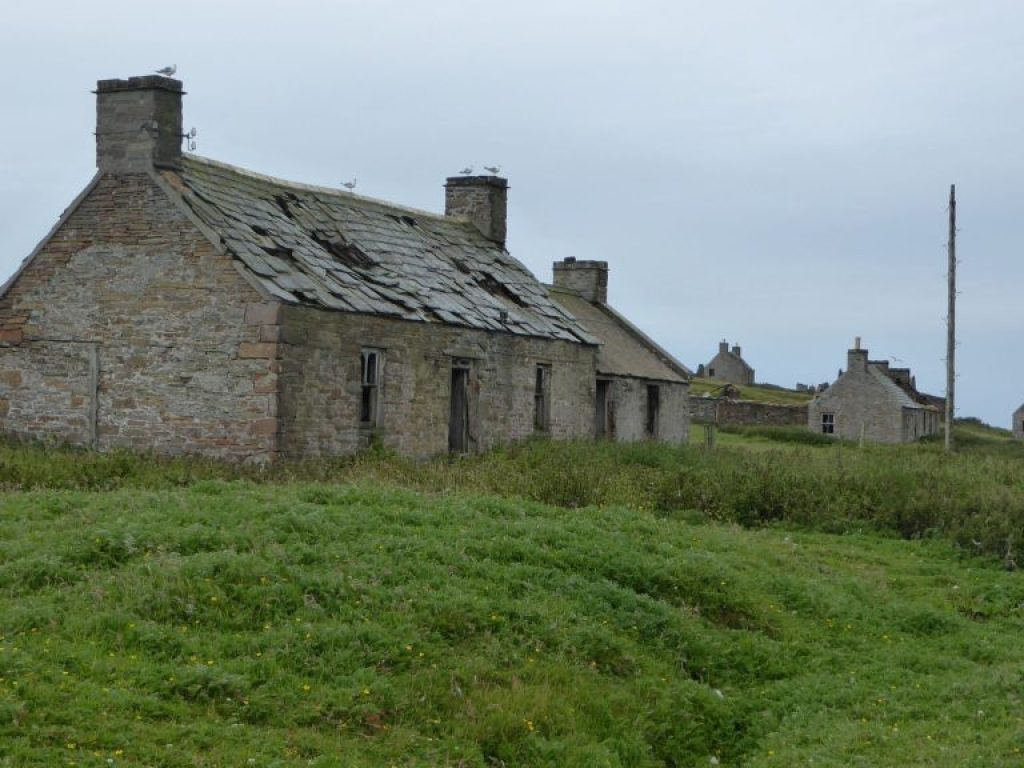 Abandoned houses of Stroma