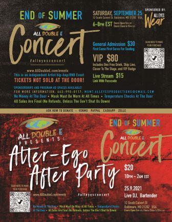 All Eyes Wear Concert Flyer