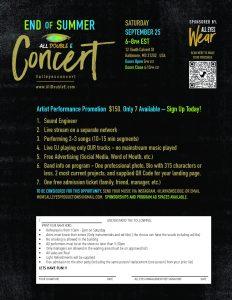 Artist Flyer for Concert
