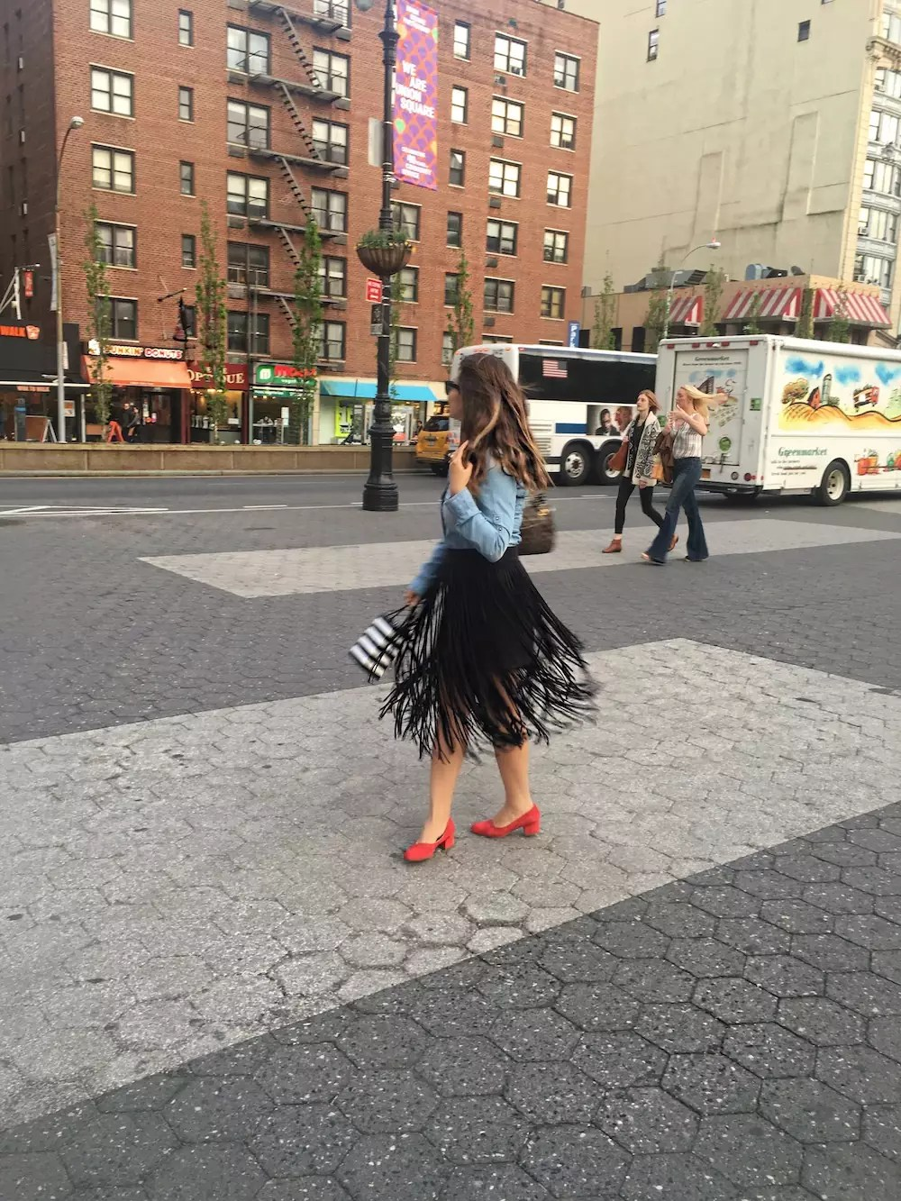 fringe skirts red-shoes-and-denim-shirt-alley-girl-new-york-fashion-blogger-6