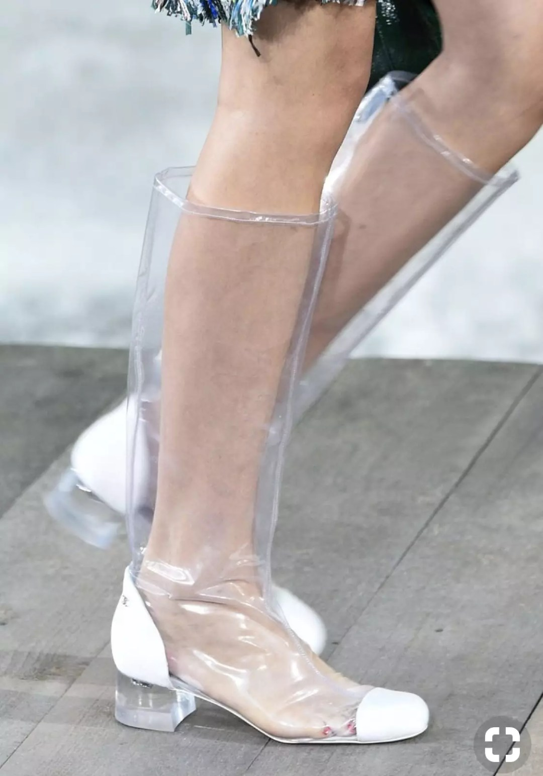 chanel 2018 spring collection transparent rain boots alley girl trend review - Who did Design the Very First Clear Transparent Shoes?