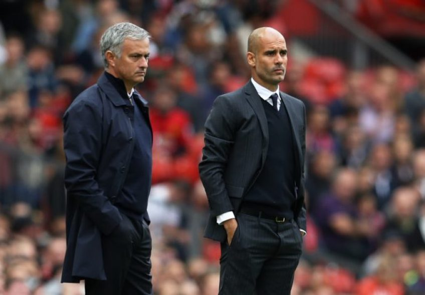 Guardiola will face old nemesis Mourinho and his Tottenham side in the EFL Cup final this year | Image: Blame Football, Manchester City vs Brighton and Hove Albion Preview