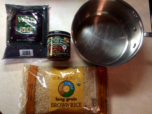 Brown & Wild Rice with Caremelized Onions, Creminis, and Greens (gf, v) (4/6)