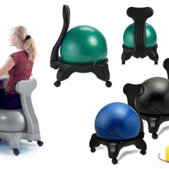 Exercise Ball Chair For Back Pain Bailey Dogs Healthy Alternatives To Traditional Office Chairs Balance Image