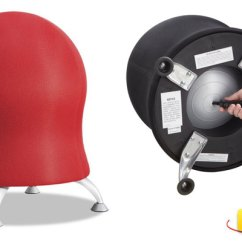 Exercise Ball Chair For Back Pain Blue Gaming Healthy Alternatives To Traditional Office Chairs Zenergy Image
