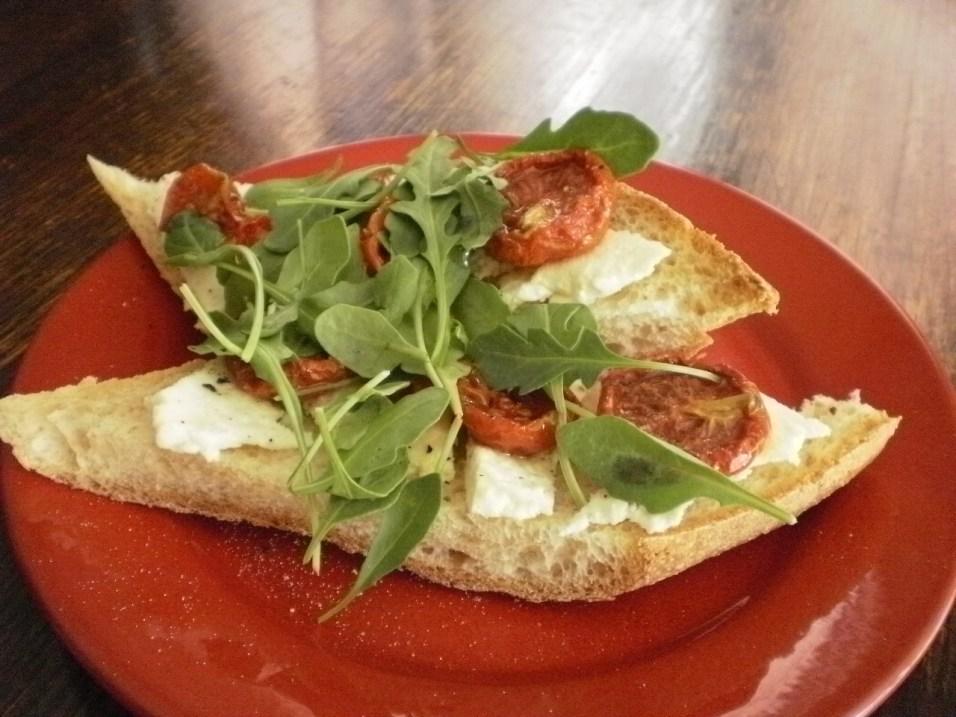Roasted Tomatoes with Ricotta Salata and Baby Arugula