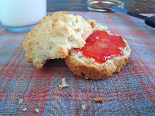 Peanut Butter Biscuits with Jam
