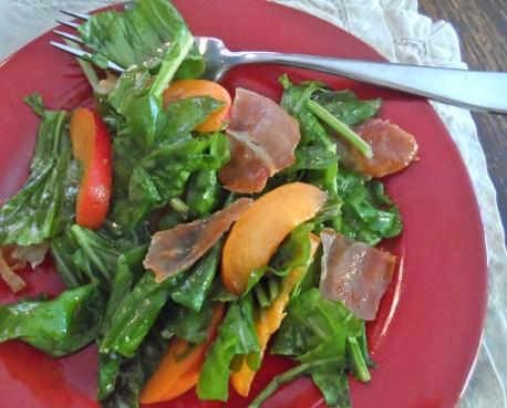 Arugula Salad with Apricot & Crisp Prosciutto