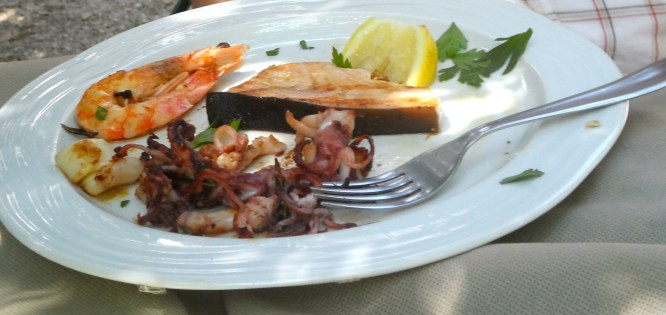 mixed grilled seafood appetizer