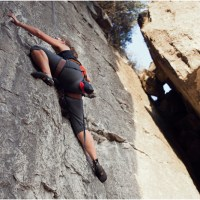 rock-climbing at rattlesnake point