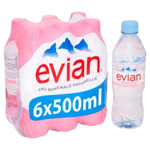 evian water 6x500ml