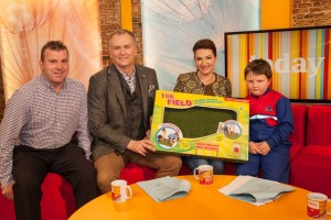 Fionn Molloy from Mucklagh in Tullamore was finally re-united with his coveted field on 'Today with Maura & Daithí' on RTÉ