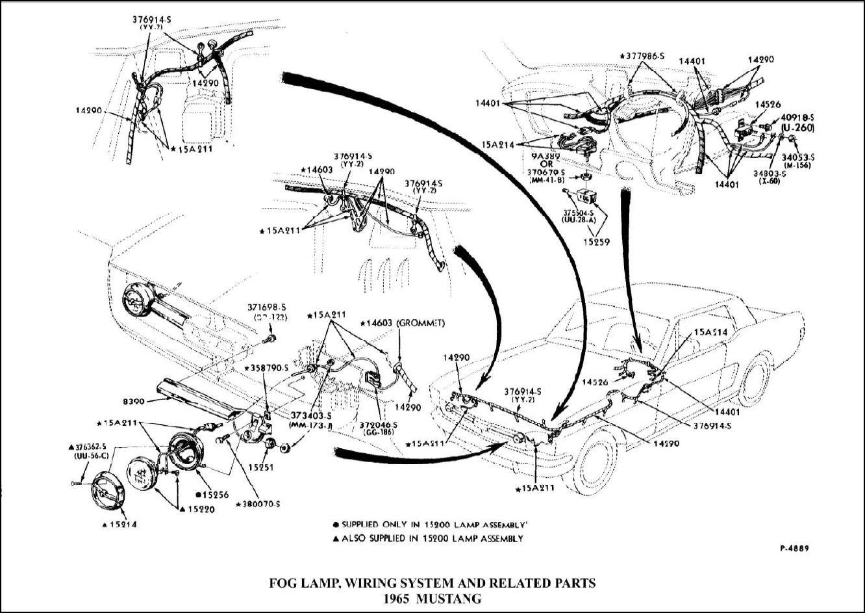 1965 Mustang GT Fog Light Wiring