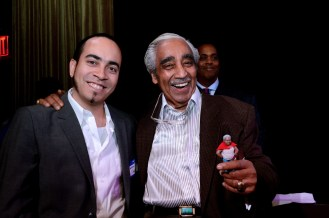 Congressman Charlie Rangel and William D. Caballero, creator of the HBO Latino series, Grandpa Knows Bes!