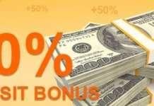 50% Forex Welcome Deposit Bonus