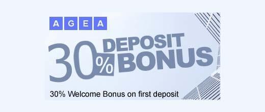 30% Welcome Deposit Bonus