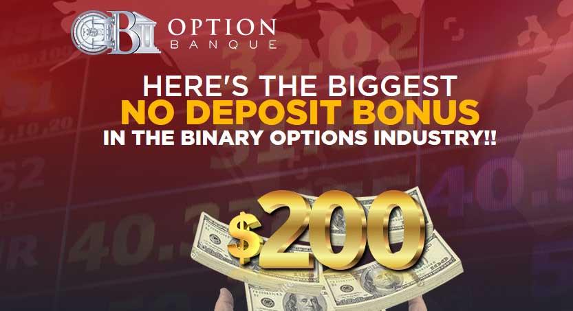Binary $200 No Deposit Bonus Options