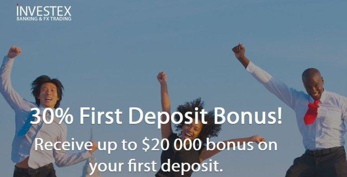 Investex 30% First Deposit Bonus