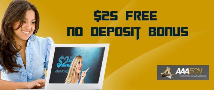 AAAECN Forex $25 NO Deposit Bonus