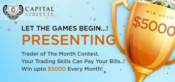 Capital Street FX Trader of The Month Contest