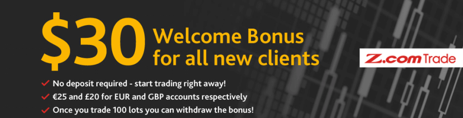 Z.COM Trade NO-Deposit Required Bonus