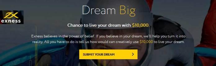 EXNESS $10000 Dream Big Contest