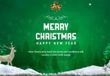 Christmas and New Year Credit Bonus bacera